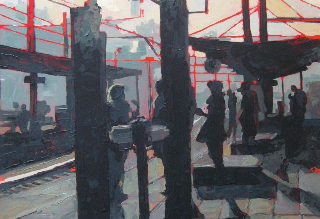 peinture gare de ciney