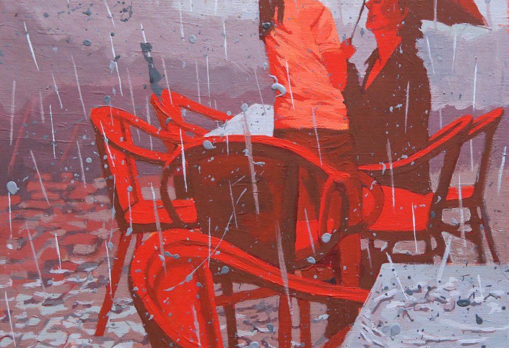peinture pluie