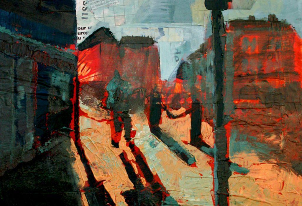 peinture feu rouge